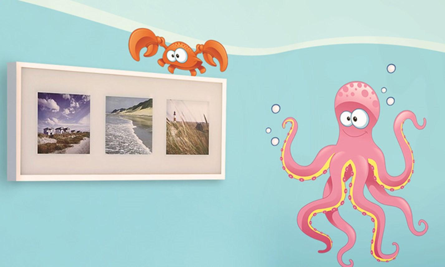 Stickers murali bambini cameretta sott 39 acqua leostickers - Camerette gioco per bambini ...